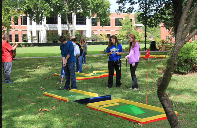 Portable Mini Golf To Go brings all the fun of Mini Golf to your event
