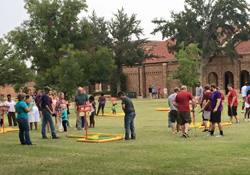 Portable Mini Golf Course set up outdoors at Midwestern State